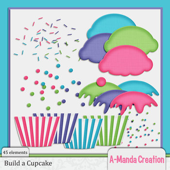 Build a Cupcake Clip Art