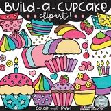 Build-a-Cupcake Clipart {cupcake clipart}