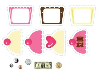 Build a Cupcake Money File Folder Game
