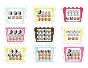 Build a Cupcake Money File Folder Game