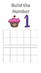 Build a Cupcake Ten Frame Cards (Numbers 0-20)
