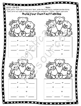 Fact Families: Fact Family Task Cards