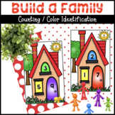 Build a Family Counting / Color Identification Activity