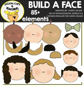 Build a Family Face Clipart Bundle