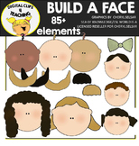 Build a Family Face Clipart Bundle