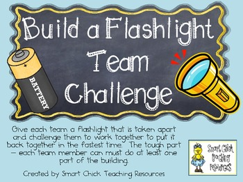 Build a Flashlight Team Challenge ~ Science Lab and Writing/Research Activities