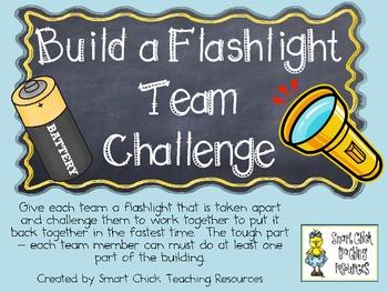 Build a Flashlight Team Challenge ~ Science Lab and Writin