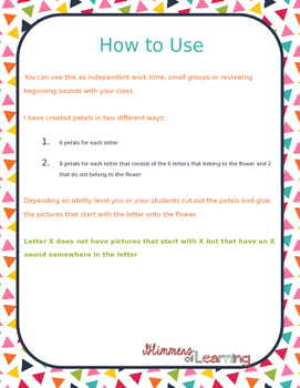 Build a Flower: Beginning Sound Activity SAMPLE