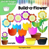 Build-a-Flower Clip Art