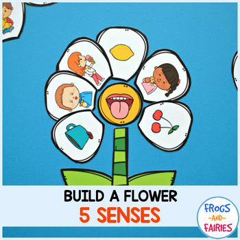 Build a Flower Five Senses Match