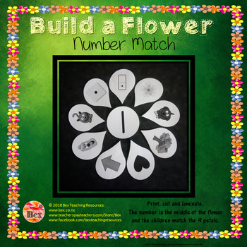Build a Flower - Number Match 1-10