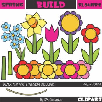 Build a Flower Spring Clip Art
