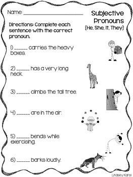 Build-a-Flower: Subjective Pronouns