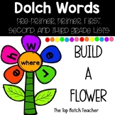 Build a Flower Word Work Dolch Words GROWING BUNDLE