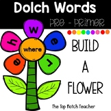 Build a Flower Word Work Pre-Primer Dolch Words