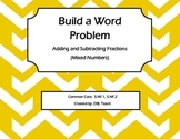 Build a Fraction Word Problem