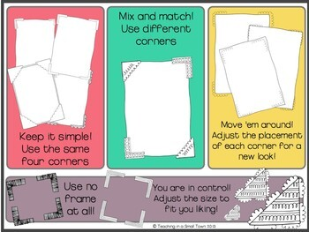 Build-a-Frame with Photo Corners for Commercial Use- Thousands of Possibilities!