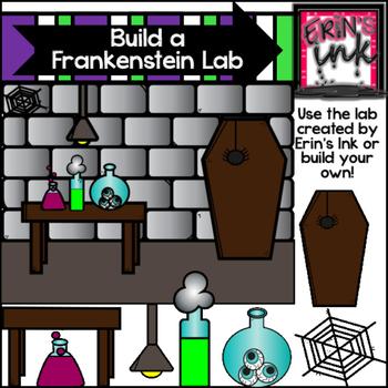 Build a Frankenstein Halloween Clipart (Erin's Ink Clipart)