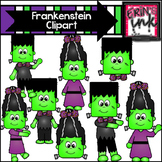 Build a Frankenstein Halloween Clipart (Erin's Ink Clipart)