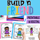 Build a Friend activity for positive friendship qualities