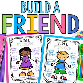 Build a Friend activity; make friends, learn friendship tr