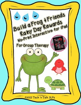 Build a Frog & Friends  - Rainy Day Rewards for Group Therapy