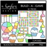 Build-a-Game: Cupcakes Clipart {A Hughes Design}