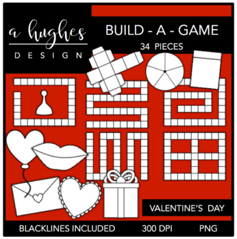 Build-a-Game: Valentine's Day Clipart {A Hughes Design}