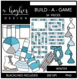 Build-a-Game: Winter Clipart {A Hughes Design}