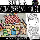 Build a Gingerbread House Craft: Coloring Pages {Made by Creative Clips}