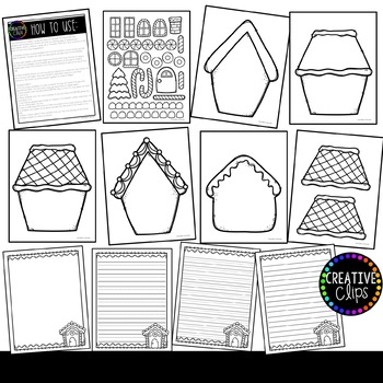 unusual gingerbread house coloring pages - photo#1