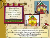 Build a Gingerbread House Place Value File Folder Activity