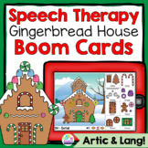 Christmas Speech Therapy Build a Gingerbread House Boom Cards