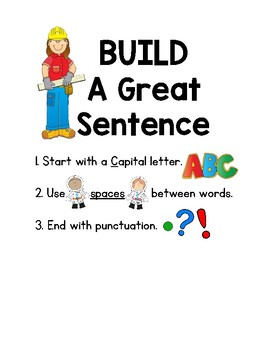 Build a Great Sentence Poster