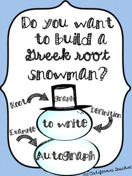 Build a {Greek Root} Snowman