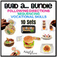 Build a... Food BUNDLE Vocational Task Boxes and Team Work Games