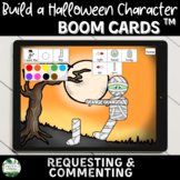 Build a Halloween Character Boom Cards for Requesting and Commenting