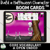 Build a Halloween Character Boom Cards   Core Vocabulary and Open Ended Options