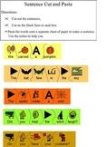 Build Halloween Sentence Language Arts Cut & Paste Puzzle; Boardmaker