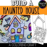 Build a Haunted House Craft: Halloween Coloring Pages