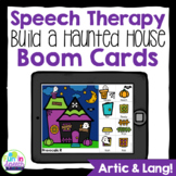 Build a Haunted House Halloween Boom Cards for Speech Therapy