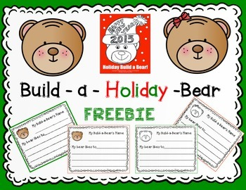 Build a Holiday Bear Writing FREEBIE