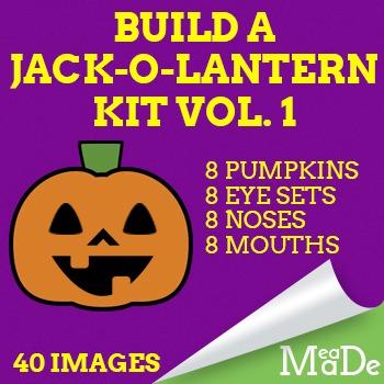 Build a Jack-O-Lantern Clipart - Create Your Own Clip Art