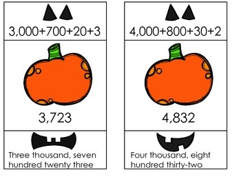 Build a Jack-O-Lantern Differentiated Place Value Center