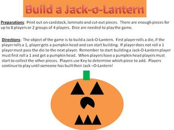 Build a Jack-O-Lantern Math Number Recognition and Counting Game