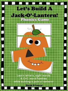 Build a Jack-O'-Lantern Phonics Game