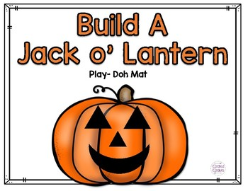 Build a Jack O'Lantern Play- Doh Mat