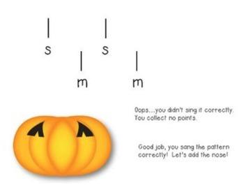 Halloween Music Game: Build a Jack-o-Lantern {Sol-Mi}