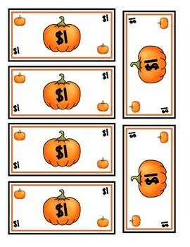 Build a Jack-o-Lantern Money Activity