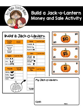 Build a Jack-o-Lantern Money and Sale Activity